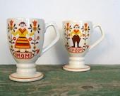 Folk Art Mugs / Mom and Pop / Pennsylvania Dutch