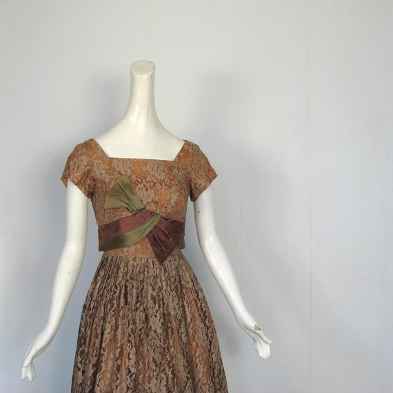 1950s Party Dress / The Forest Queen / 50s Dress / Claudia Young / XS