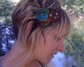 Couture Macaw Feather Hair Accessory/Headband
