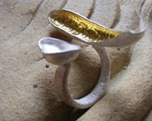 gilded mussel shell dress ring