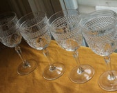 Anchor Hocking, Long stem wine glasses, Set of four, water glasses