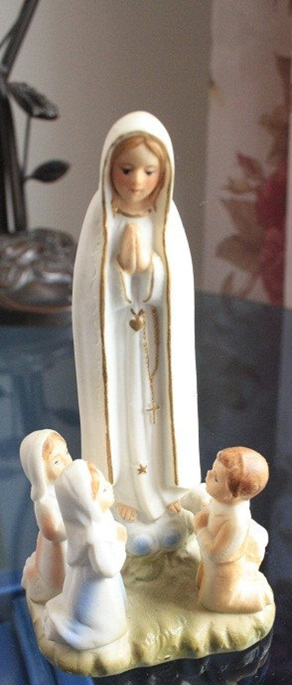 1960's Our Virgin Mary as Virgin Mary, Our lady of Fatima, religious figurine