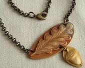 Oak Leaf and Acorn Pendant