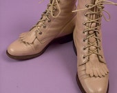 Baby Pink Western Ankle Boots 6.5