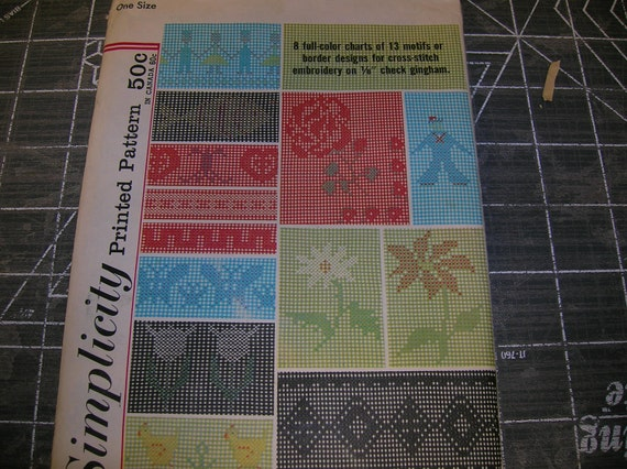 Vintage Simplicity Pattern Cross-stitch Embroidery Designs 4726