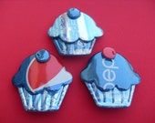 Cupcake Recycled Pepsi Soda Can Magnet or Pin