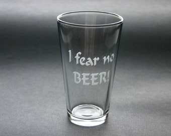 Custom Engraved Beer Glasses Personalized Set of 2 Pints