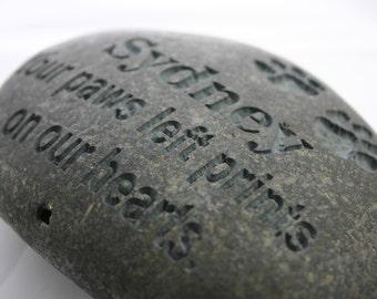 Custom Engraved Pet Memorial Stone Dog Cat Pet Loss Grave Marker Stone