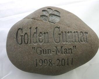 Custom Engraved Pet Memorial Stone Dog Cat