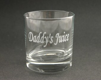 Custom Etched Rocks Glass Personalized High Ball