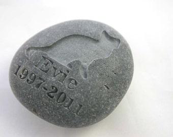 Custom Engraved Pet Memorial Stone Cat Pet Loss