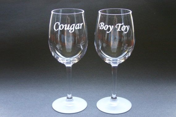 1 Custom Etched Wine Glass Personalized Etched Glass