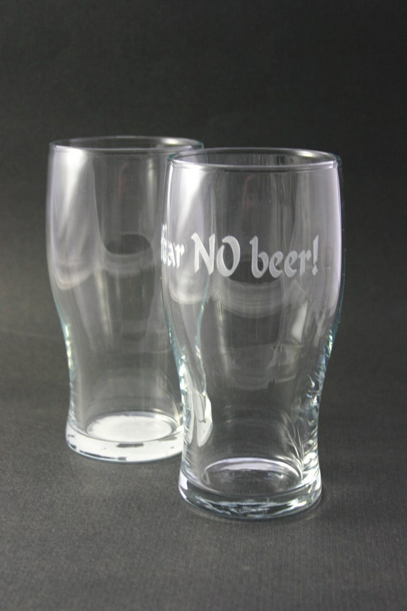 Personalized Etched Beer Pints Pilsner Glasses Set of 2