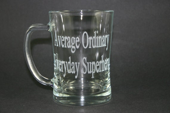 Custom Etched Beer Glass Mug Personalized 20 oz Stein