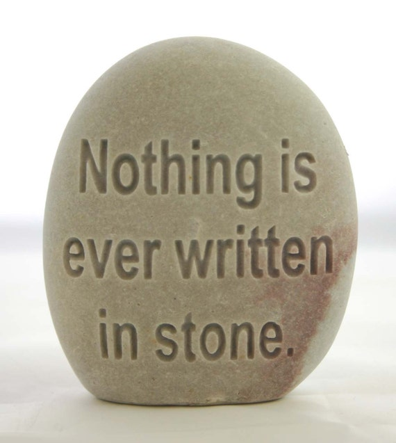 Custom Engraved White Standing Stone Ocean Rock Personalized Stone Paperweight
