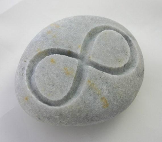 Infinity Engraved Stone Light Grey Eternity Rock Love Weddings