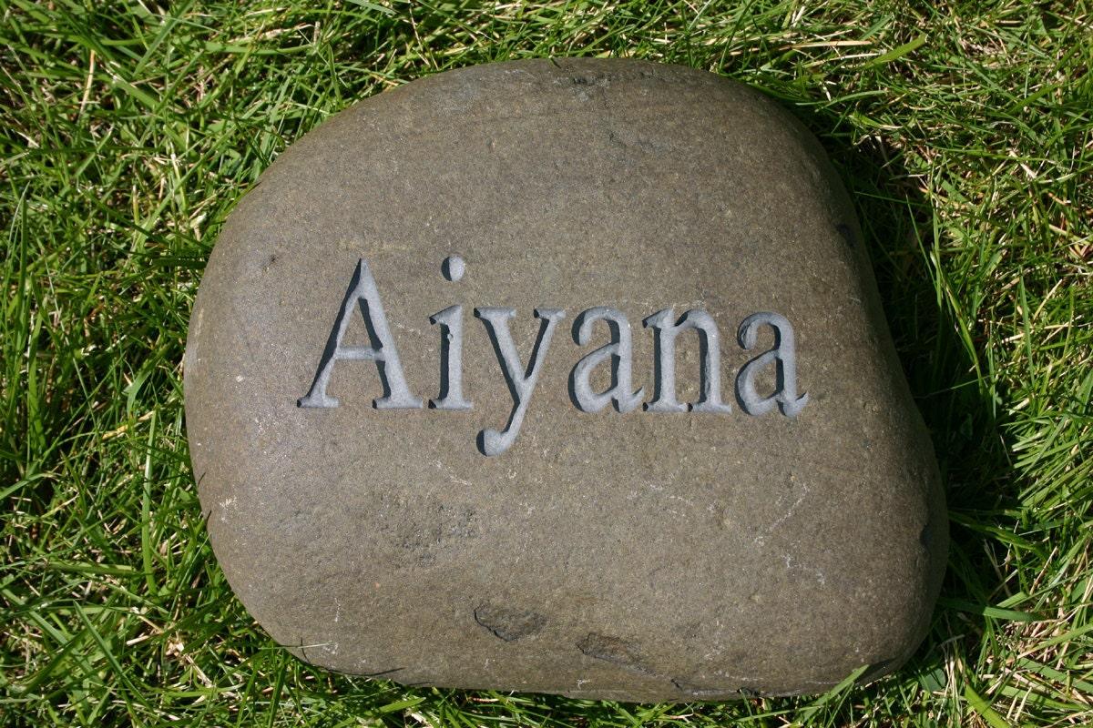custom engraved garden stone name stone address by monkeysjewels