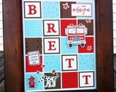 Fire Engine Personalized (What's in a Frame) Name Decor for Baby Nursery