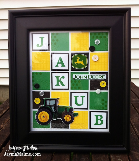 Chrisney - Tractor Custom-Designed (What's in a Frame) Baby/Child Nursery Decor