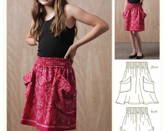 Tween skirt sewing pattern digital pattern, tween skirt sewing pattern, girls tween skirt, girls skirt sewing pattern, pdf sewing pattern