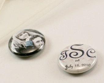 CUSTOM Wedding favor pack-1 Button Magnet Per Pack