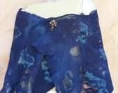 Handmade nuno felted scarf/wrap in blue/turqoise by FELT 4U  www.felt4uart.blogspot.com