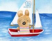 Sailing Bunny Card