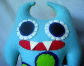 Smonster, Two Prong (Light Blue/Lime with Lime and Navy Blue Spots)