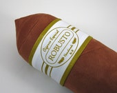 Light Robusto Cigar Bolster Pillow with White Band