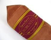 Robusto Cigar Pillow Light with Maroon and Gold Band