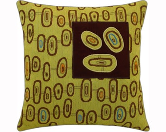 "Three Eye ""Squared"" Modern Decorative Pillow 12 x 12 inches"