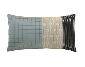 Aqua Alchemy 'Panes' Modern Decorative Pillow 12 x 22 inches