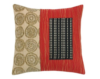 "Red Alchemy ""Mini"" Modern Decorative Pillow 12 x 12 inches"