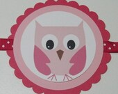 "SALE/CLEARANCE - Pink Cutie PaHOOTie ""It's a Girl"" Banner"