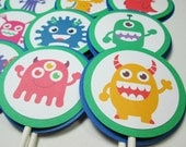 Monster Cupcake Toppers