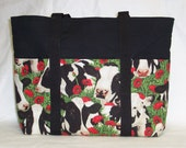 Reversible Happy Cows Large Tote Bag