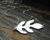 TRAIL-Silver Leaf Necklace - BlondeChick