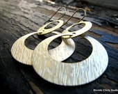 TAYA-Huge Gold Circle Disc Earrings