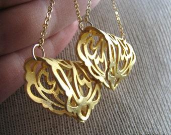 ROXANA-Golden Filigree Chandelier Earrings