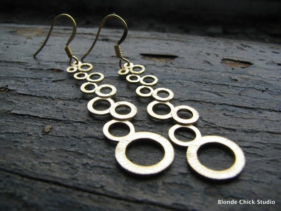 MOONLIGHT-Path of Circles Gold Earrings