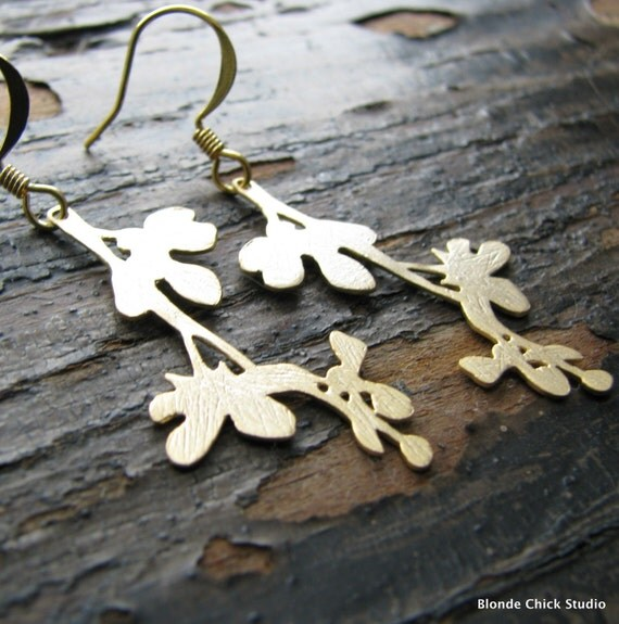 HARMONY-Golden Silhouette Stem Earrings