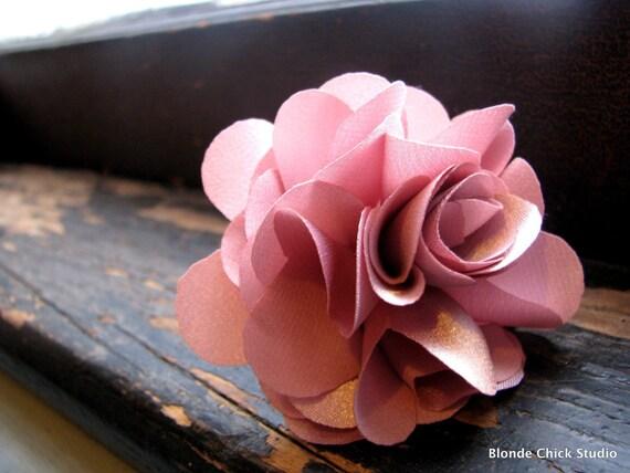 FINGER CORSAGE no.5-Pink Rose Fabric Bridesmaid Ring