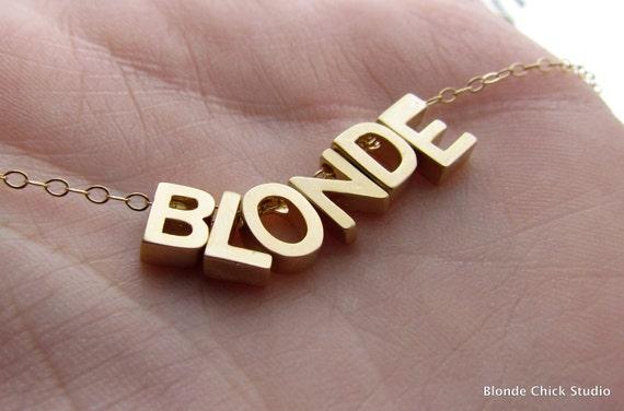 BLONDE-Golden Charm Novelty Necklace