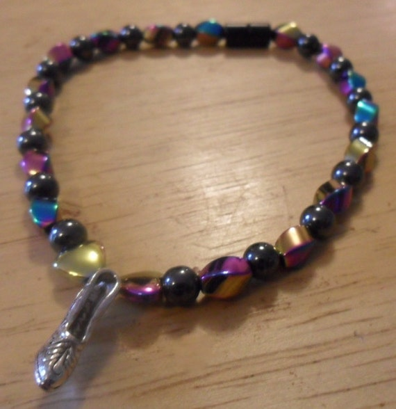 Rainbow Magnetic Anklet with Shoe Charm