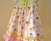 MisMatchedMolly.......CUSTOM HopScotch Flutter Dress.....sz 12m to sz 5..