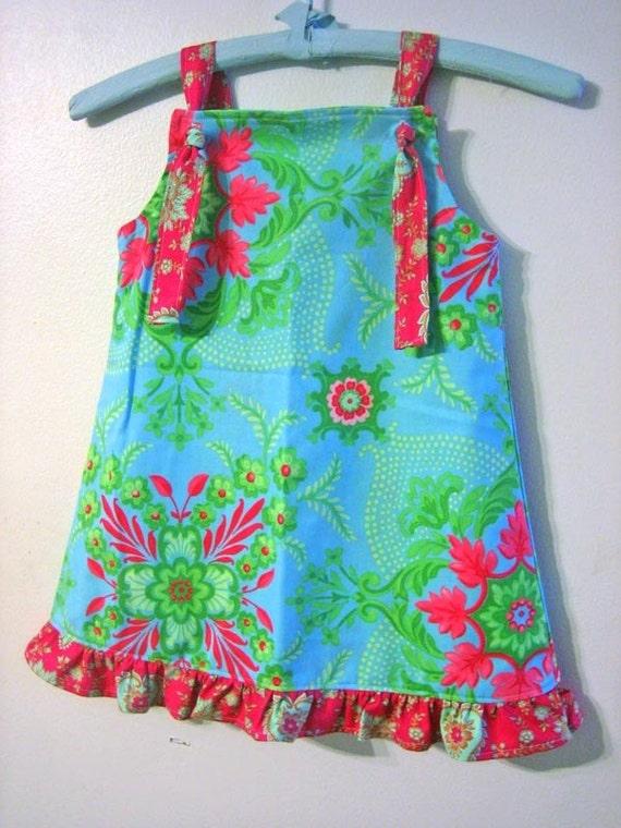 Charlie Summer Knot Dress - 6m 12m 18m 2 3 4 5