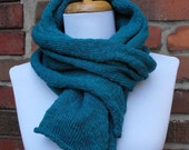 Knit Organic Cotton Scarf in Aqua - Mother's Day Gift