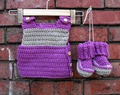 New Baby Washable Merino Wool Vest and Booties Set 0-6 Months