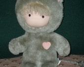 1983 Love & Hugs Plush Grey Cat
