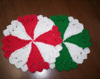 Peppermint Dishcloths